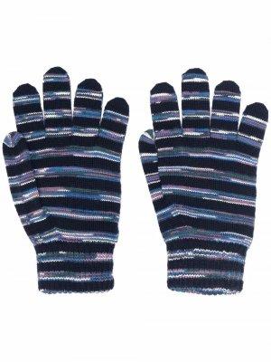 Striped-knit gloves Missoni. Цвет: синий