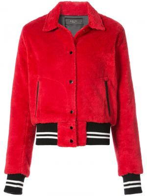Куртка-бомбер Sherpa Amiri. Цвет: красный