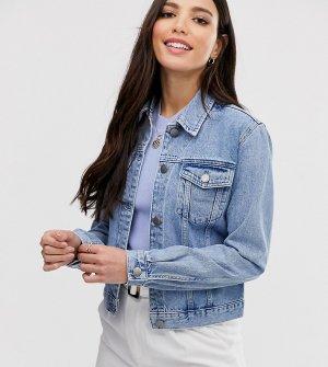 Синяя джинсовая куртка ASOS DESIGN Tall-Синий Tall