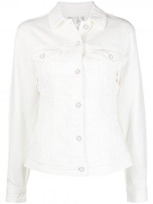 Джинсовая куртка с длинными рукавами Michael Kors. Цвет: белый