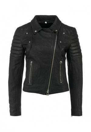 Куртка кожаная Faith Connexion. Цвет: черный