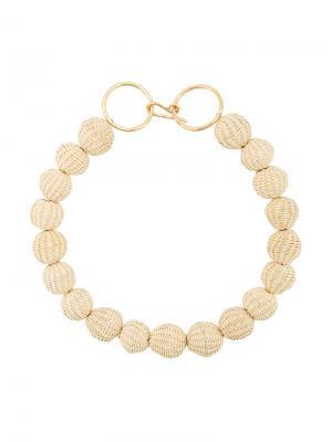 Ожерелье из бус Carolina Herrera. Цвет: нейтральные цвета