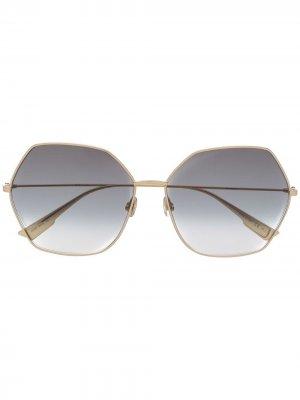 Солнцезащитные очки DiorStellaire8 в оправе геометричной формы Dior Eyewear. Цвет: золотистый