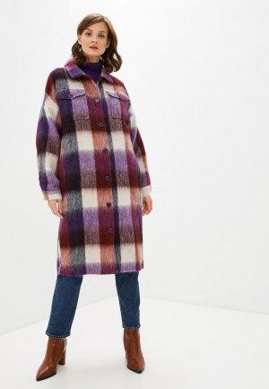 Пальто UNQ. Цвет: фиолетовый
