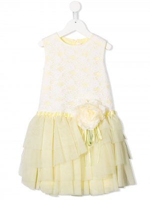 Платье без рукавов Aletta. Цвет: желтый