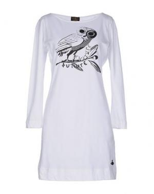 Короткое платье VIVIENNE WESTWOOD ANGLOMANIA. Цвет: белый