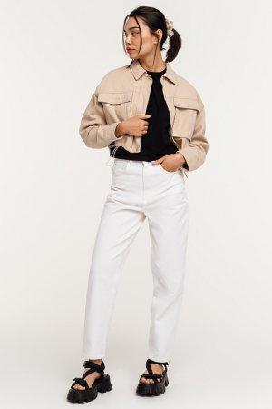 Куртка джинсовая befree. Цвет: 3, слоновая кость