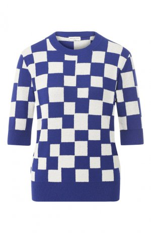 Хлопковый пуловер Dries Van Noten. Цвет: синий