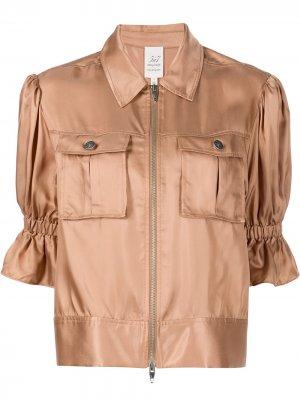 Куртка Holly с пышными рукавами Cinq A Sept. Цвет: коричневый