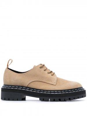 Туфли дерби на массивной подошве Proenza Schouler. Цвет: коричневый