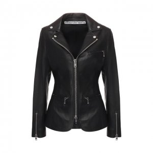 Кожаная куртка Alexander Wang. Цвет: чёрный