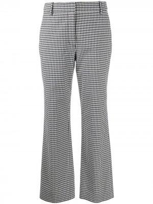 Расклешенные брюки в клетку гингем Derek Lam 10 Crosby. Цвет: синий