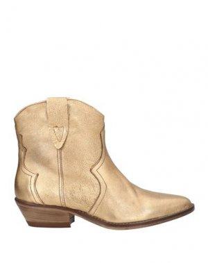 Полусапоги и высокие ботинки J|D JULIE DEE. Цвет: золотистый
