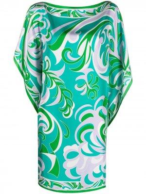 Накидка с принтом Albizia Emilio Pucci. Цвет: зеленый