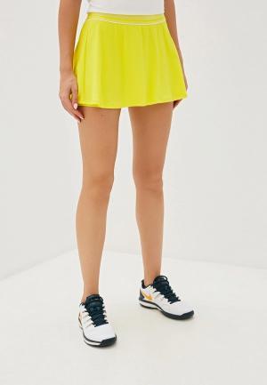 Юбка-шорты Nike W NKCT FLOUNCY SKIRT. Цвет: желтый