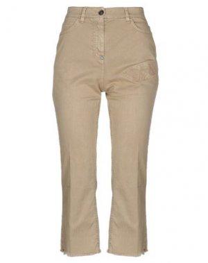 Джинсовые брюки-капри WHITE SAND 88. Цвет: верблюжий