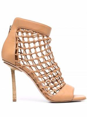 Open-toe woven pumps Le Silla. Цвет: нейтральные цвета