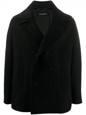 Бушлат со съемными лацканами Dolce & Gabbana. Цвет: черный