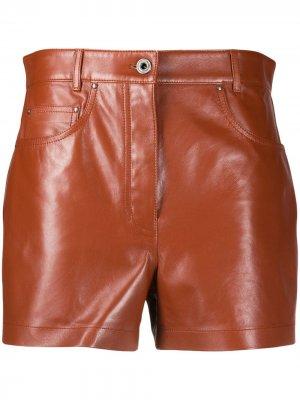 Шорты с карманами Salvatore Ferragamo. Цвет: коричневый