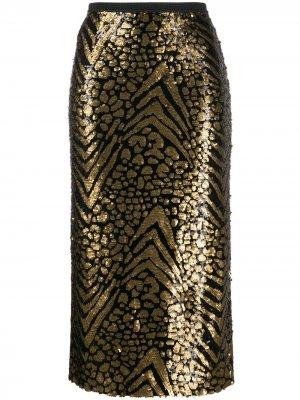 Sequinned pencil skirt Antonio Marras. Цвет: черный