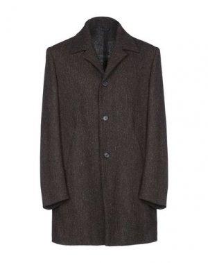 Пальто HARRIS TWEED. Цвет: темно-коричневый