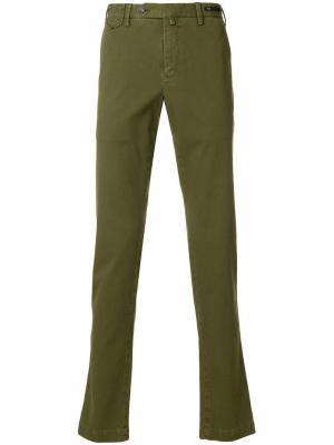 Классические брюки-чинос Pt01. Цвет: зеленый