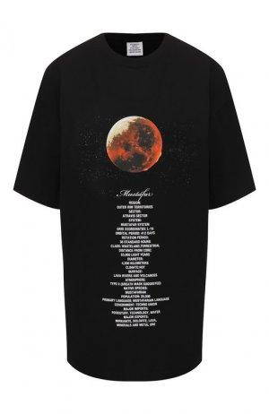 Хлопковая футболка Star Wars x Vetements. Цвет: чёрный