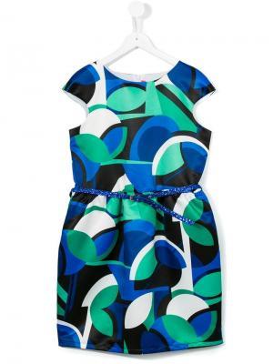 Платье с принтом Loredana. Цвет: синий