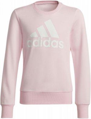 Свитшот для девочек adidas Essentials Big Logo, размер 140. Цвет: розовый