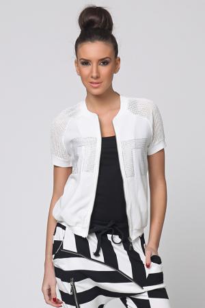 Куртка Cocogio. Цвет: белый