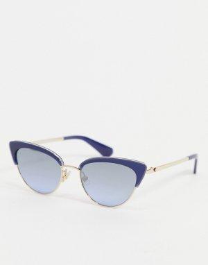 Солнцезащитные очки с оправой «кошачий глаз» Jahnam-Голубой Kate Spade