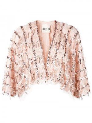 Декорированное болеро ANIYE BY. Цвет: розовый