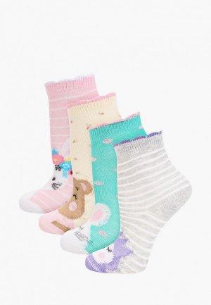 Носки 4 пары Rusocks. Цвет: разноцветный
