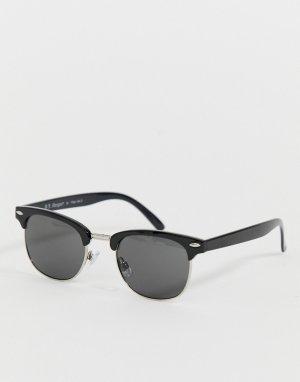 Черные солнцезащитные очки в стиле ретро AJ Morgan. Цвет: черный