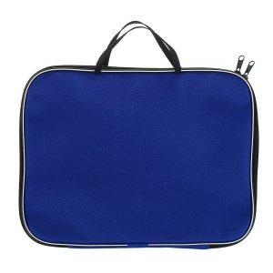 Папка с ручками текстиль а4 20 мм, 350*270 офис, нейлон 600d, двуцветный кант, синяя Calligrata