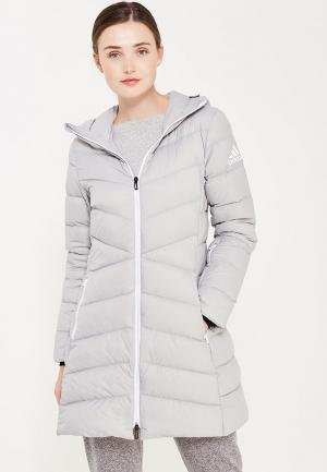 Пуховик adidas W CW NUVIC JKT. Цвет: серый
