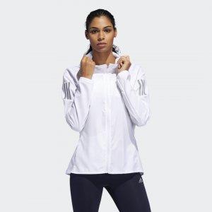Ветровка для бега Own the Run Hooded Performance adidas. Цвет: белый