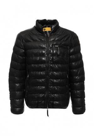 Куртка кожаная Parajumpers. Цвет: черный