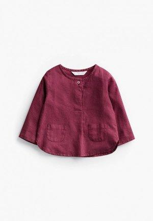 Рубашка Mango Kids - PIPO-I. Цвет: бордовый