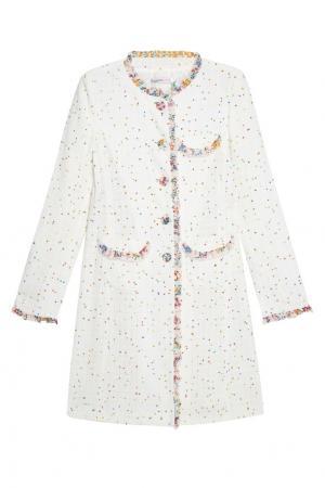 Легкое пальто из хлопка Emanuel Ungaro Vintage. Цвет: белый
