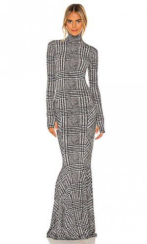 Вечернее платье Norma Kamali. Цвет: black & white