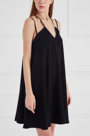 Однотонное платье Chapurin. Цвет: черный