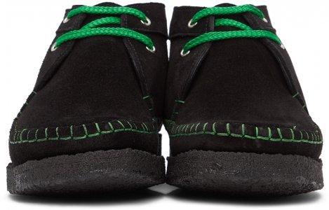 Black & Green Padmore Barnes Edition Willow Boots Comme des Garçons Homme Deux. Цвет: 1 blk/grn