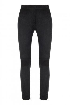 Черные замшевые брюки Loewe. Цвет: черный