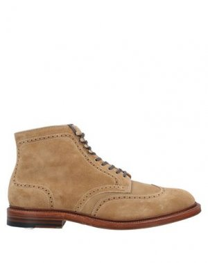 Полусапоги и высокие ботинки ALDEN. Цвет: бежевый