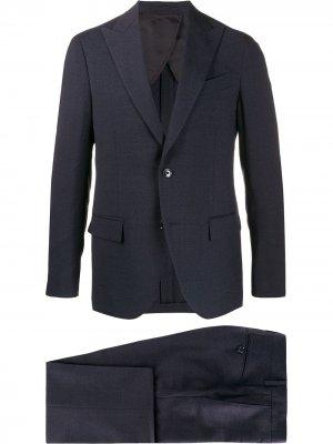 Delloglio строгий костюм-двойка Dell'oglio. Цвет: синий