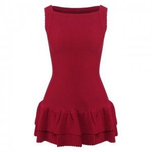 Мини-платье Alaia. Цвет: красный
