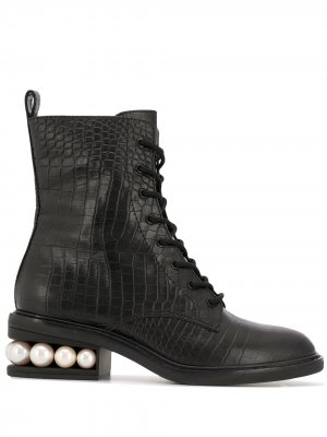 Ботинки Casati в стиле милитари Nicholas Kirkwood. Цвет: черный