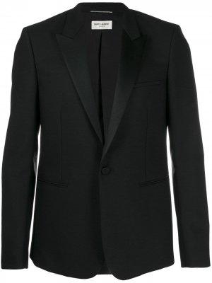 Пиджак-смокинг Saint Laurent. Цвет: черный