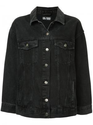 Джинсовая куртка с вышитым драконом Dalood. Цвет: чёрный
